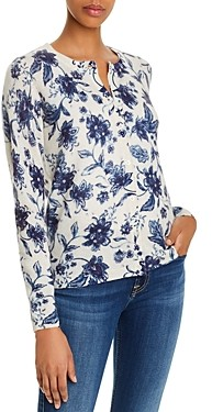 Bloomingdale's C by Cashmere Floral Print Sweater - 100% Exclusive