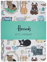 Harrods Quirky Pets Notebook Set