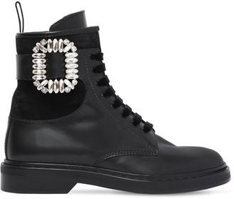 Roger Vivier 25mm Viv Ranger Embellished Leather Boot