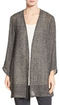 Eileen Fisher Women's Bracelet Sleeve Organic Linen Blend Jacket