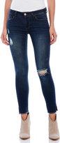 Kensie Distressed Skinny Ankle Jeans