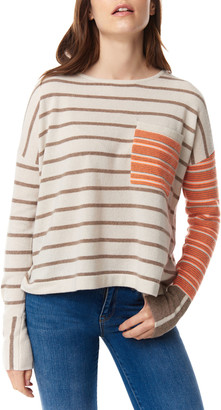 LISA TODD Oh My Stripe Cashmere Pocket Sweater