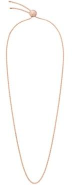 Calvin Klein Rocking Stainless Steel and White Swarovski Crystal Sphere Adjustable Necklace