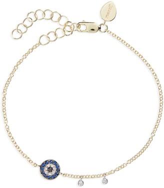 Meira T Evil Eye Sapphire & Diamond Charm