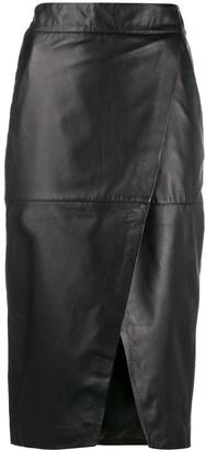 L'Autre Chose Stitched Panel Skirt