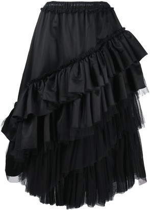Viktor & Rolf Tequila Sunrise ruffled satin skirt