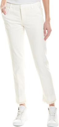 Zadig & Voltaire Prune Frange Fringe Linen-Blend Pant