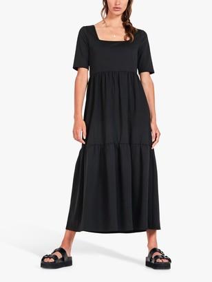 Hush Orla Midi Dress, Black