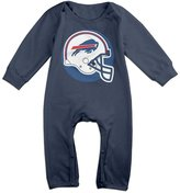 TLK Baby Onesie TLK Babys Buffalo Football Bills Logo Long Sleeve Jumpsuit Outfits 6 M
