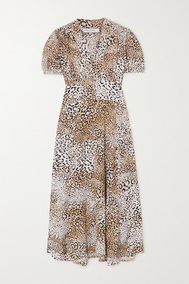 Faithfull The Brand Meadows Leopard-print Crepe Midi Dress - Leopard print