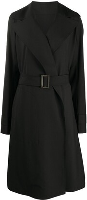 Rick Owens Wide Lapel Trench Coat