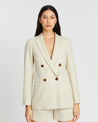 Reiss Lauren Double-Breasted Longline Blazer