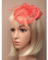 Inca Coral Fascinator on Headband/ Clip-in for Weddings, Races and Occasions-5529