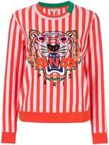 Kenzo tiger motif striped sweatshirt