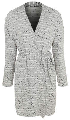George Post Surgery Grey Star Print Dressing Gown