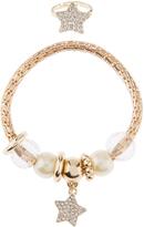 Monsoon Star Pearl Trinket Bracelet & Ring Set