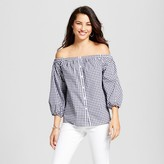 Merona Women's Button Front Off the Shoulder Top