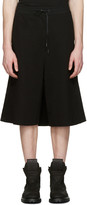 D.gnak By Kang.d Black Wrap Back Lounge Shorts