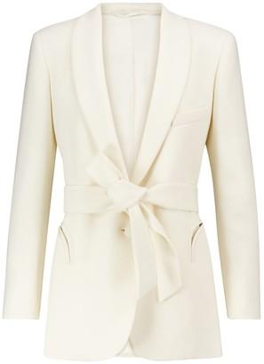 BLAZÉ MILANO Robe belted wool crepe blazer