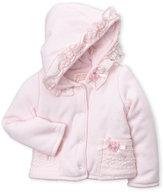 Biscotti Newborn Girls) Lace-Trimmed Hoodie