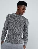 MANGO Man Chunky Knit Sweater In Navy