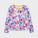Paul Smith Girls' 7+ Years Floral 'Mooly' Knitted Cardigan