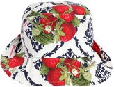 MonnaLisa Strawberry Print Cotton Poplin Hat