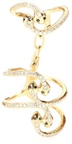 Ileana Makri 18kt Gold Snake Parade Ring With White And Black Diamonds