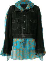 Puma Maison Yasuhiro denim layered cape jacket