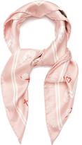 Alexander McQueen Sweetheart skull-print silk-twill scarf