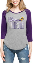 '47 Women's Minnesota Vikings Club Block Raglan T-Shirt