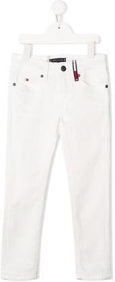 Tommy Hilfiger Junior Scanton mid-rise slim jeans
