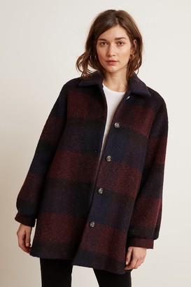Velvet by Graham & Spencer Kourtney Plaid Sweater Coat