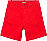 Paul Smith Bright Red Shorts with Zebra Branding