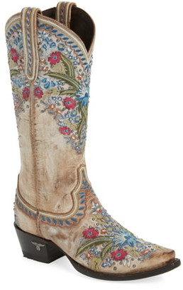 Lane Boots Chloe Floral Embroidered Western Boot