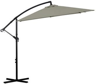 Milano Outdoor Square Umbrella 2.2m Grey