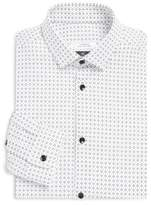 Versace Printed Cotton Trend-Fit Dress Shirt