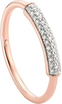 Monica Vinader Stellar 18ct rose gold-plated vermeil and white diamond ring