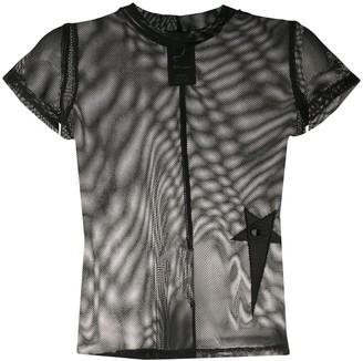 Rick Owens sheer mesh T-shirt