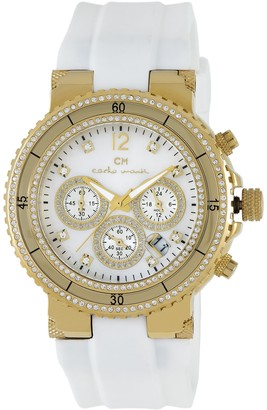Carlo Monti Ladies Quartz Watch with Mother Of Pearl Dial Analogue Display and White Silicone Strap CM202-286