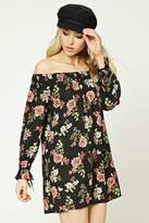Forever 21 Floral Off-the-Shoulder Dress