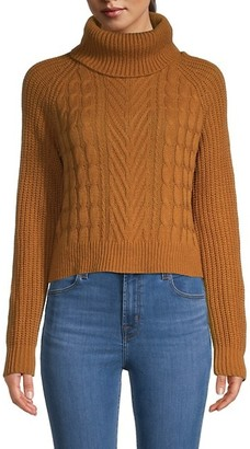 Full Circle Cable-Knit Turtleneck Sweater