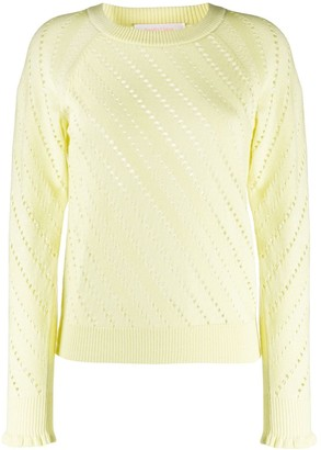 See by Chloe Perforated Crew-Neck Jumper