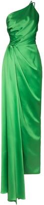 Rasario Asymmetric Draped Gown