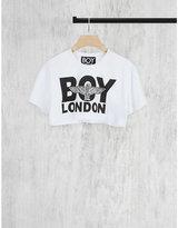 Boy London Cropped logo cotton-jersey t-shirt