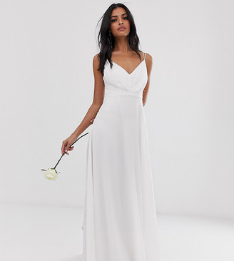 Asos Design DESIGN Bridesmaid cami maxi dress with ruched bodice and tie waist