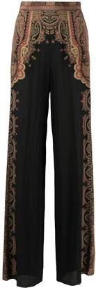 Etro Floral Print Palazzo Trousers