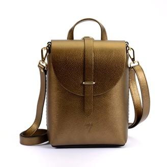Atelier Hiva Liber Leather Bag Metallic Brown