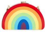 Milly Rainbow Half Moon Clutch - Red
