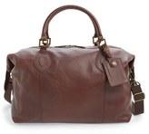 Barbour Men's Leather Travel Bag - Brown